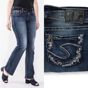 Silver Jeans • Suki Slim Boot Stretch Jeans Sz 29